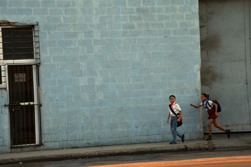 Street Kids Running